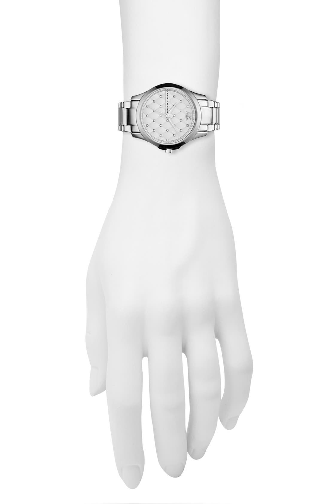 Alternate Image 4  - AX Armani Exchange Quilted Dial Bracelet Watch, 36mm (Online Only)
