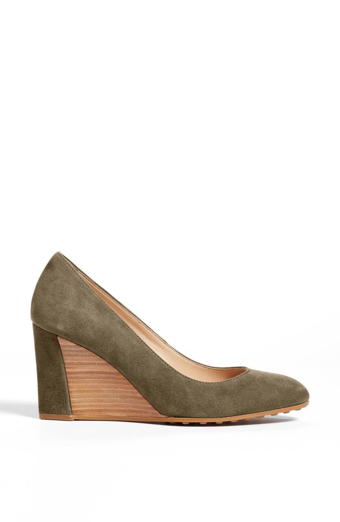 Alternate Image 4  - Tod's Suede Wedge Pump