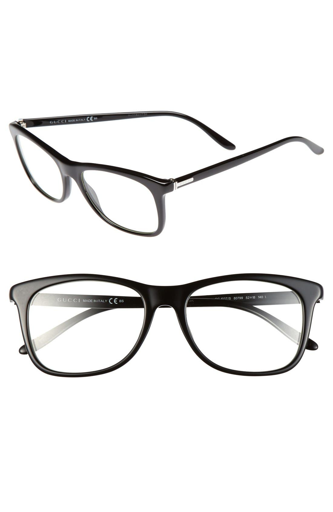 Alternate Image 1 Selected - Gucci 52mm Optical Glasses (Online Only)