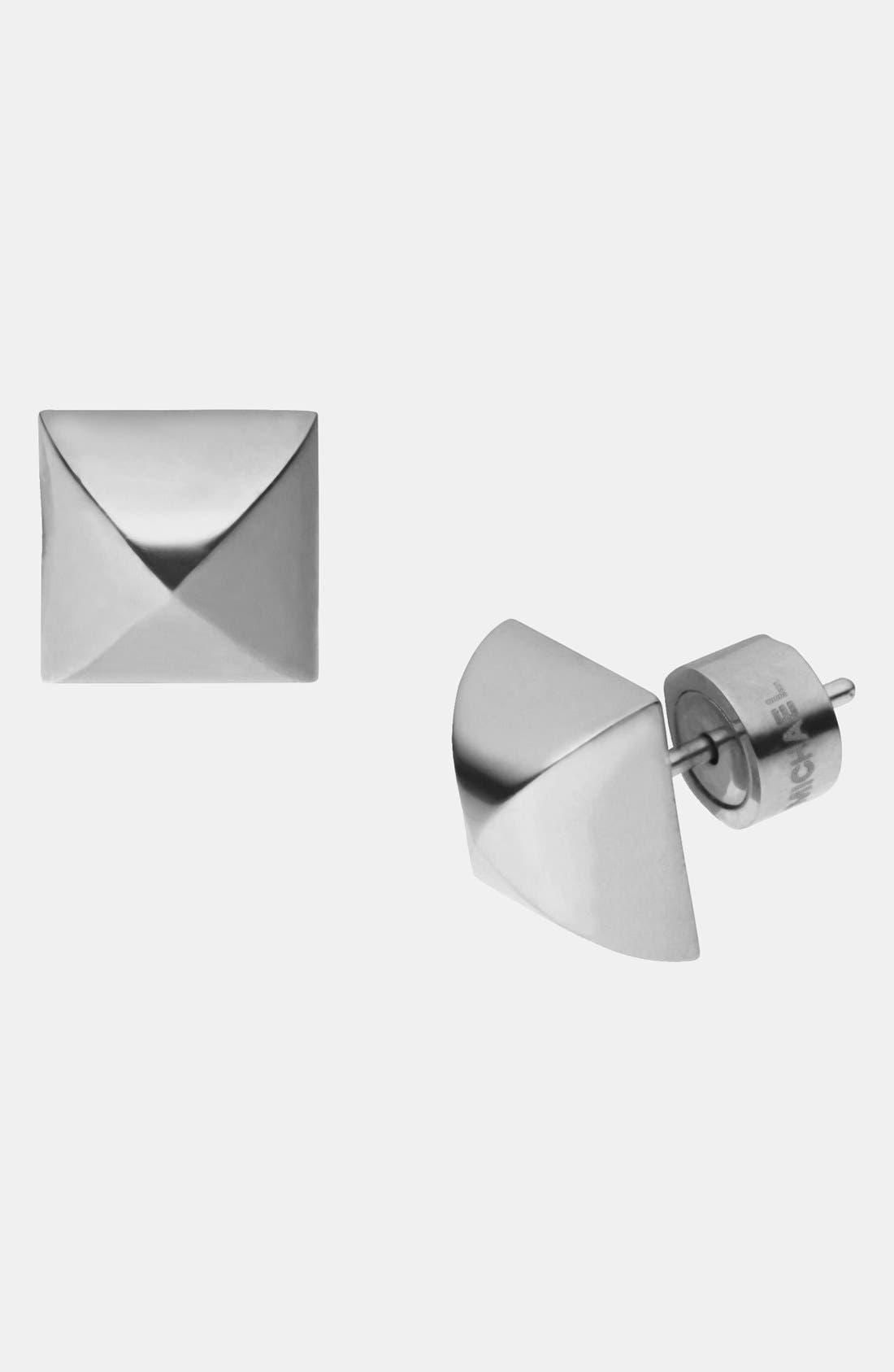 Alternate Image 1 Selected - Michael Kors 'Glam Rock' Pyramid Stud Earrings