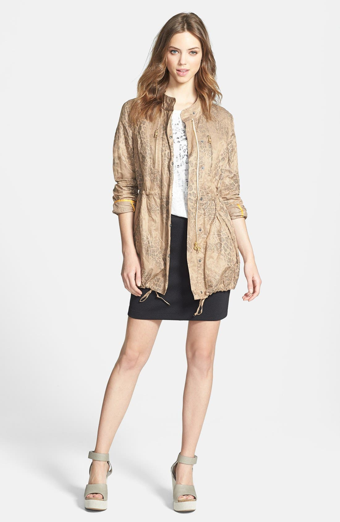 Alternate Image 4  - Two by Vince Camuto Leopard Print Anorak