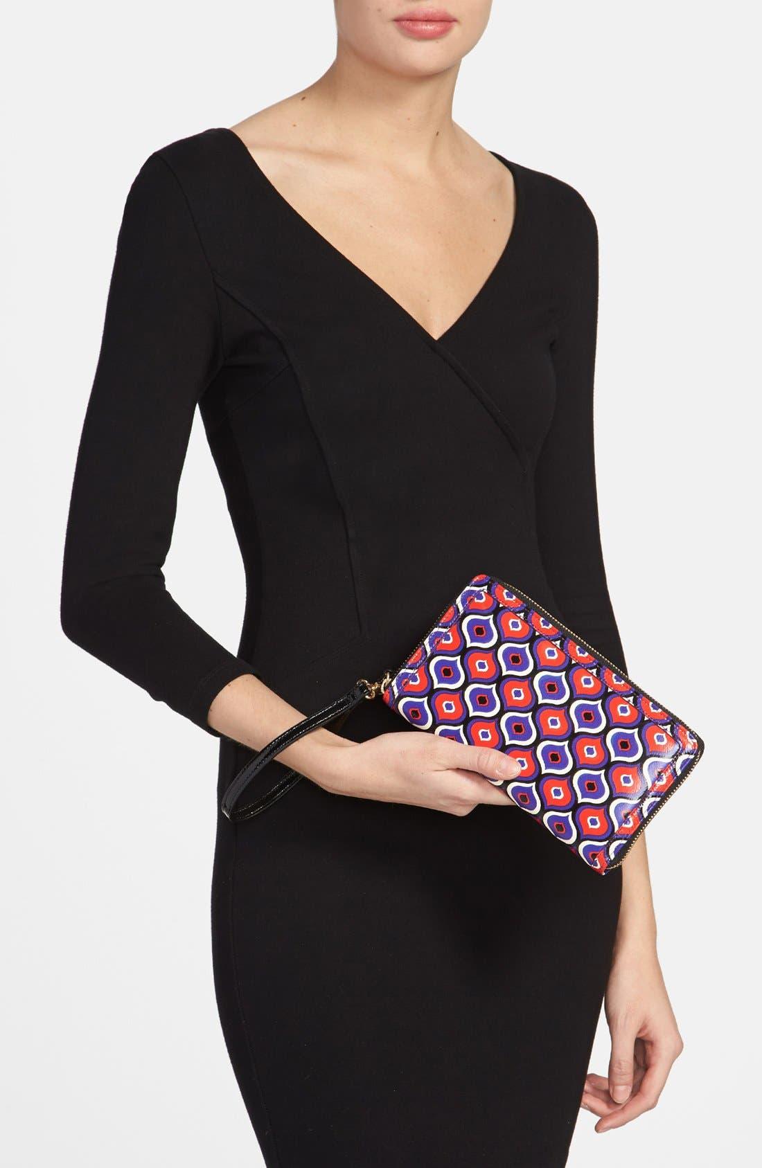 Alternate Image 4  - Halogen® 'Hypergraphic' Leather Zip-Around Wallet
