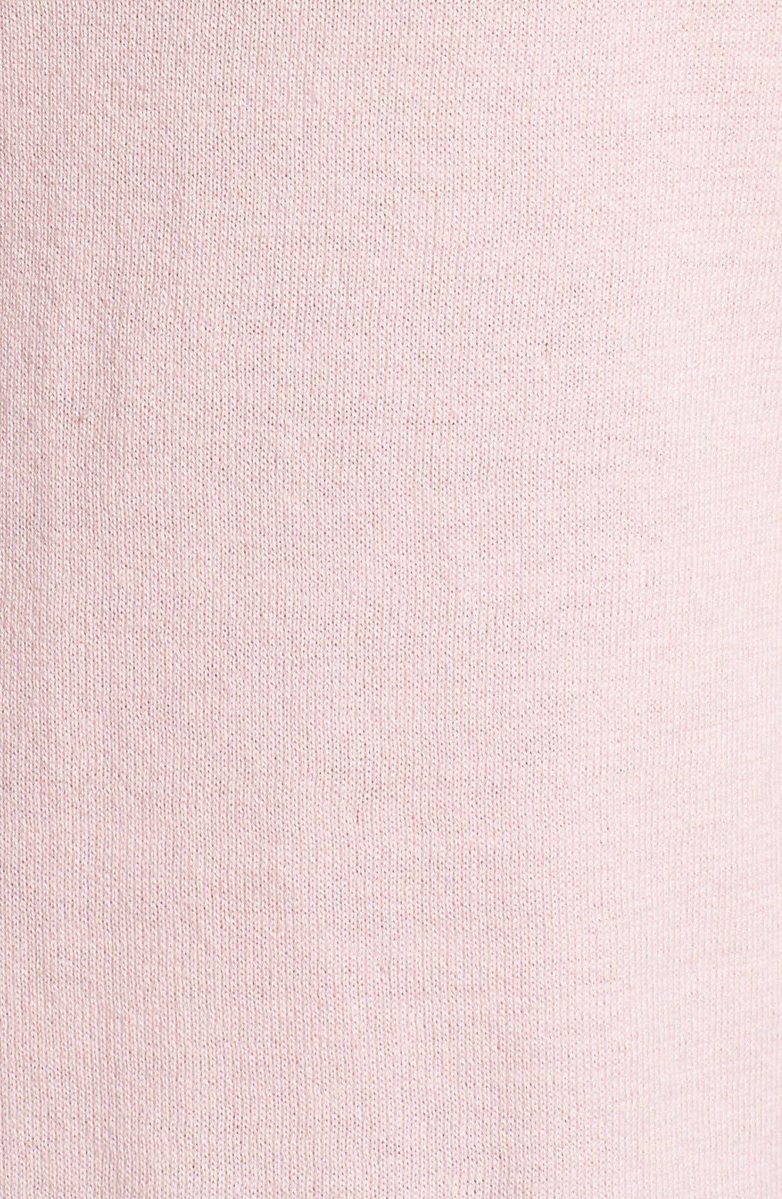 Alternate Image 3  - Vince Camuto Sheer Yoke Short Sleeve Cotton Blend Sweater