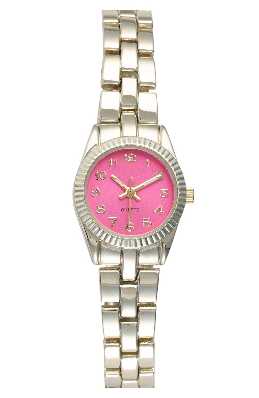 Alternate Image 1 Selected - Titanium Color Dial Bracelet Watch, 22mm (Juniors) (Online Only)