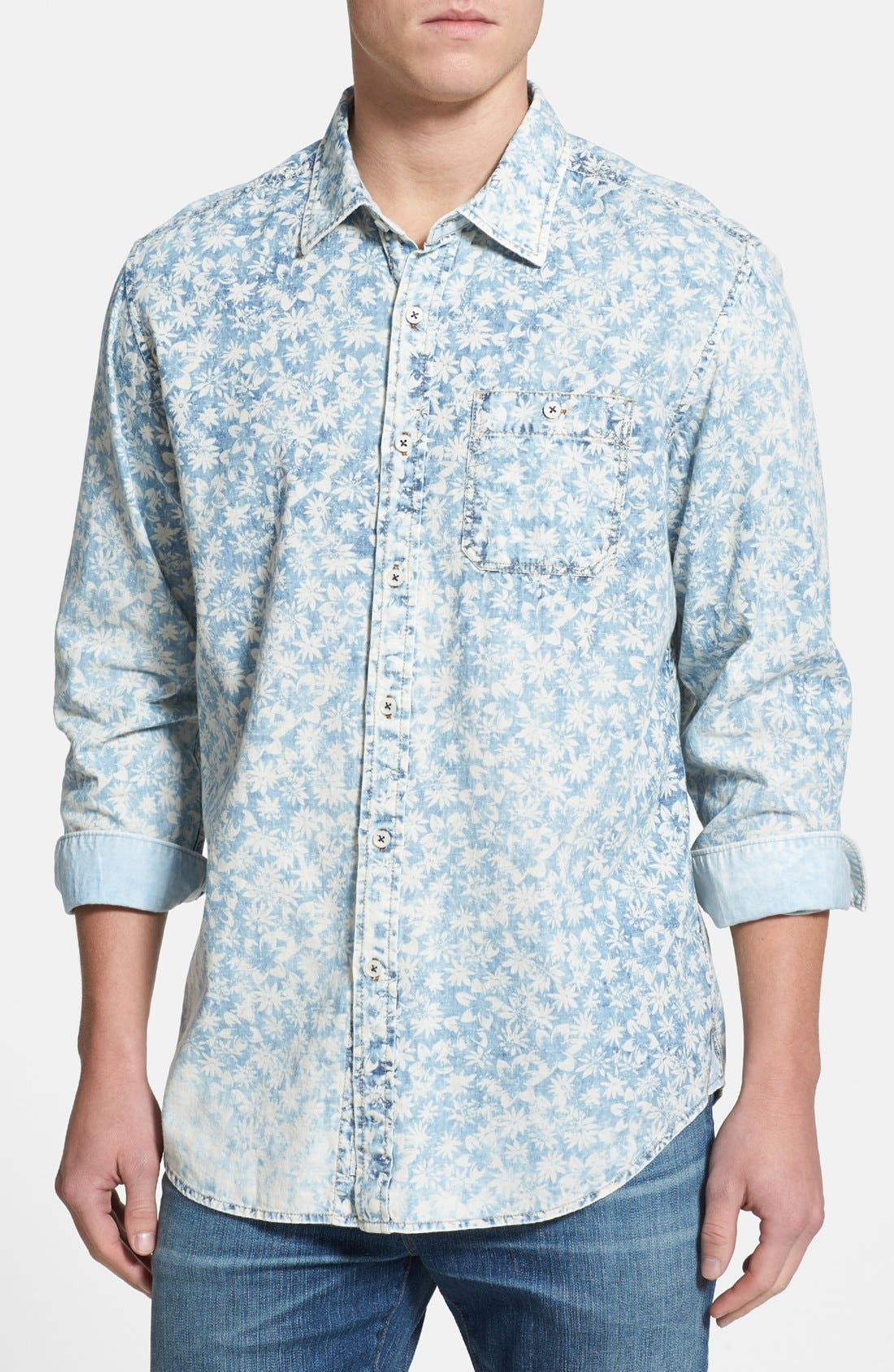 Main Image - Tommy Bahama 'Fields Forever' Island Modern Fit Sport Shirt