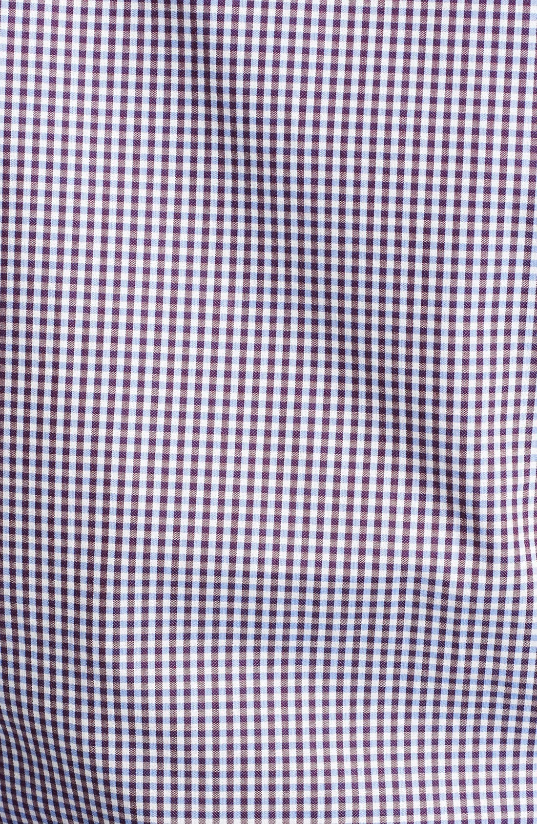 Alternate Image 3  - Z Zegna Microcheck Sport Shirt