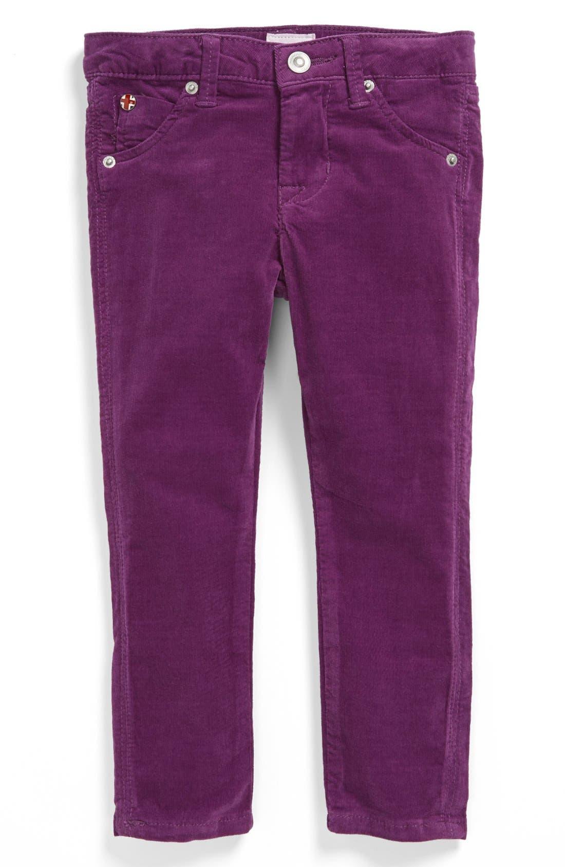Alternate Image 2  - Hudson Kids Corduroy Skinny Jeans (Toddler Girls)