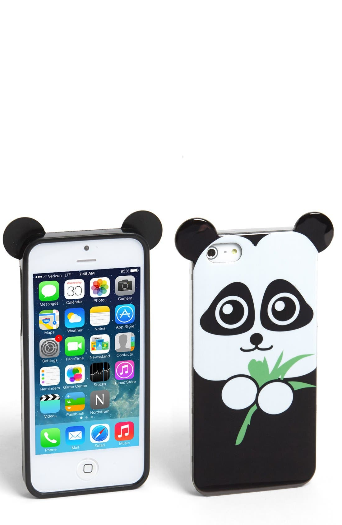 Alternate Image 1 Selected - Tri-Coastal Design Panda iPhone 5 & 5s Case (Juniors) (Online Only)