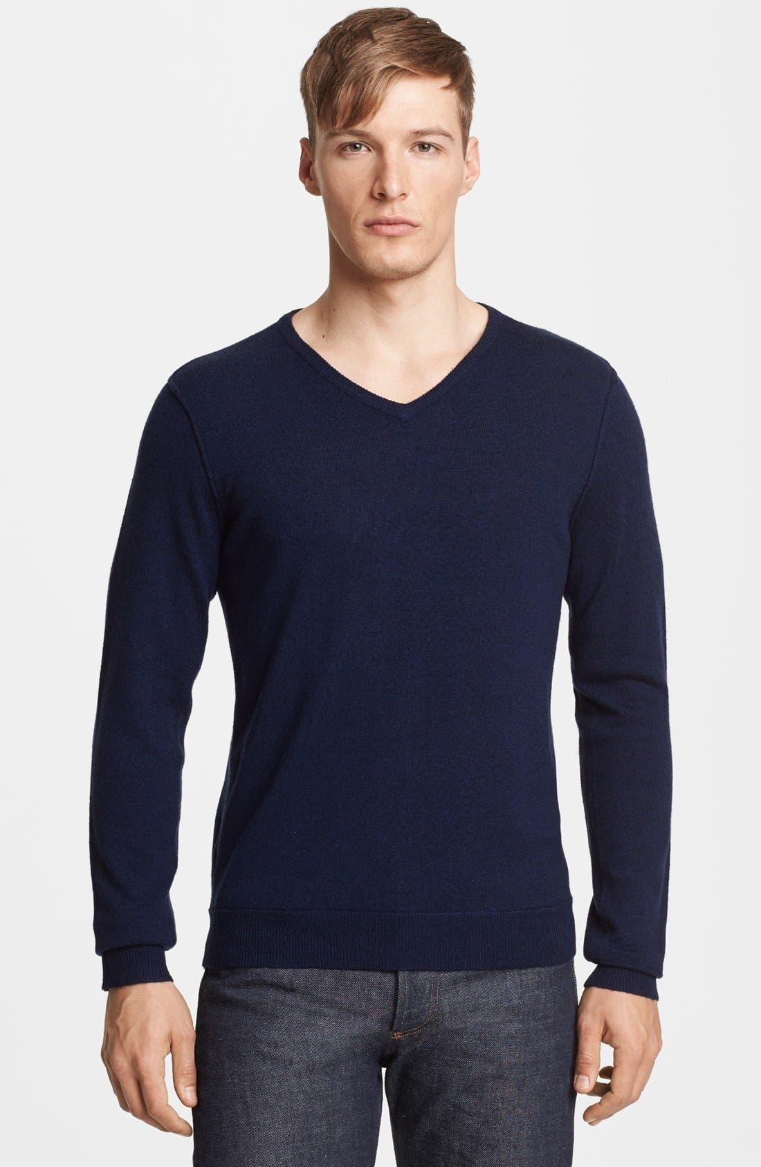 Alternate Image 1 Selected - rag & bone 'Abingdon' V-Neck Merino Wool Sweater