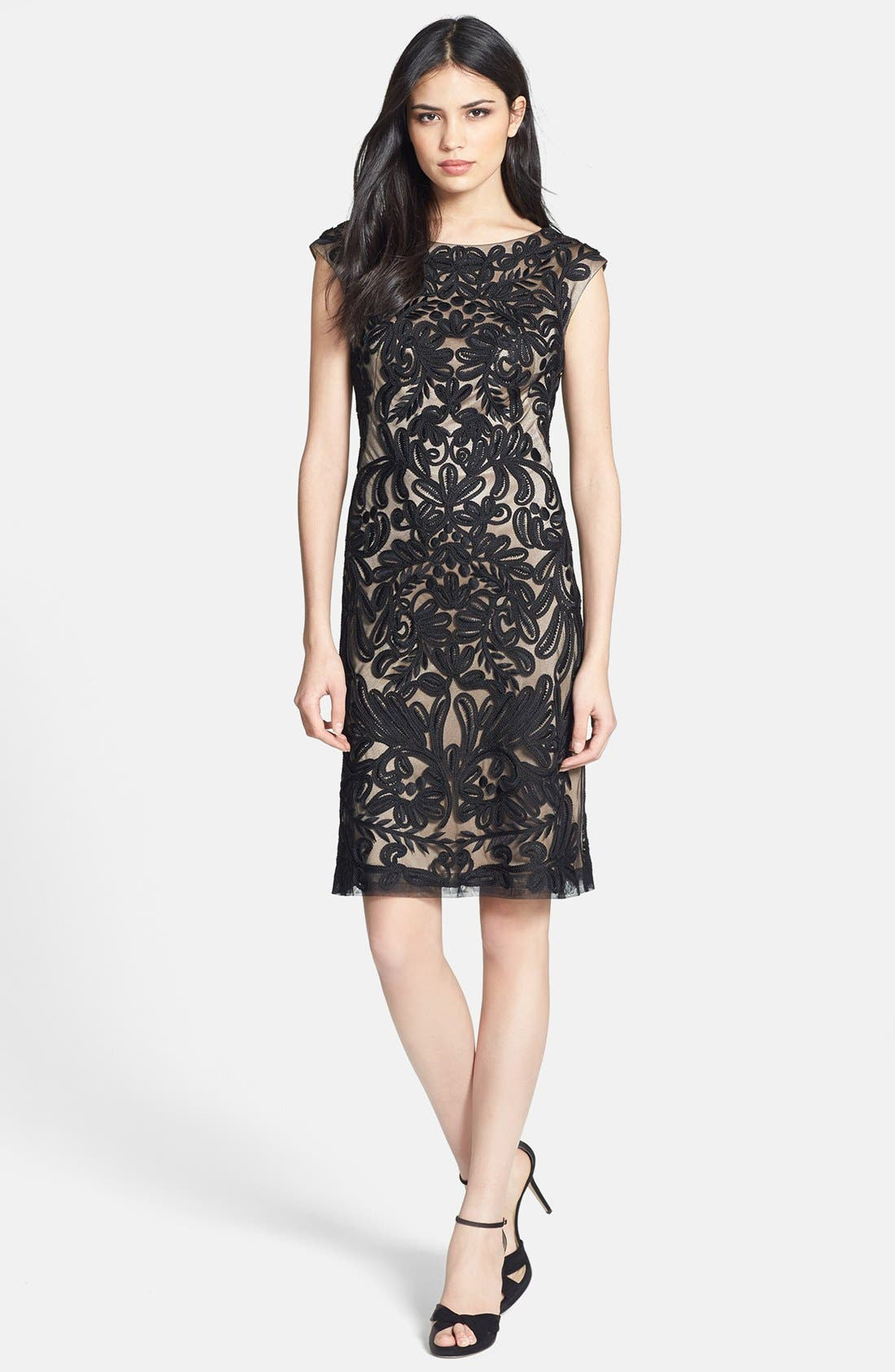 Main Image - Sue Wong Embroidered Sheath Dress
