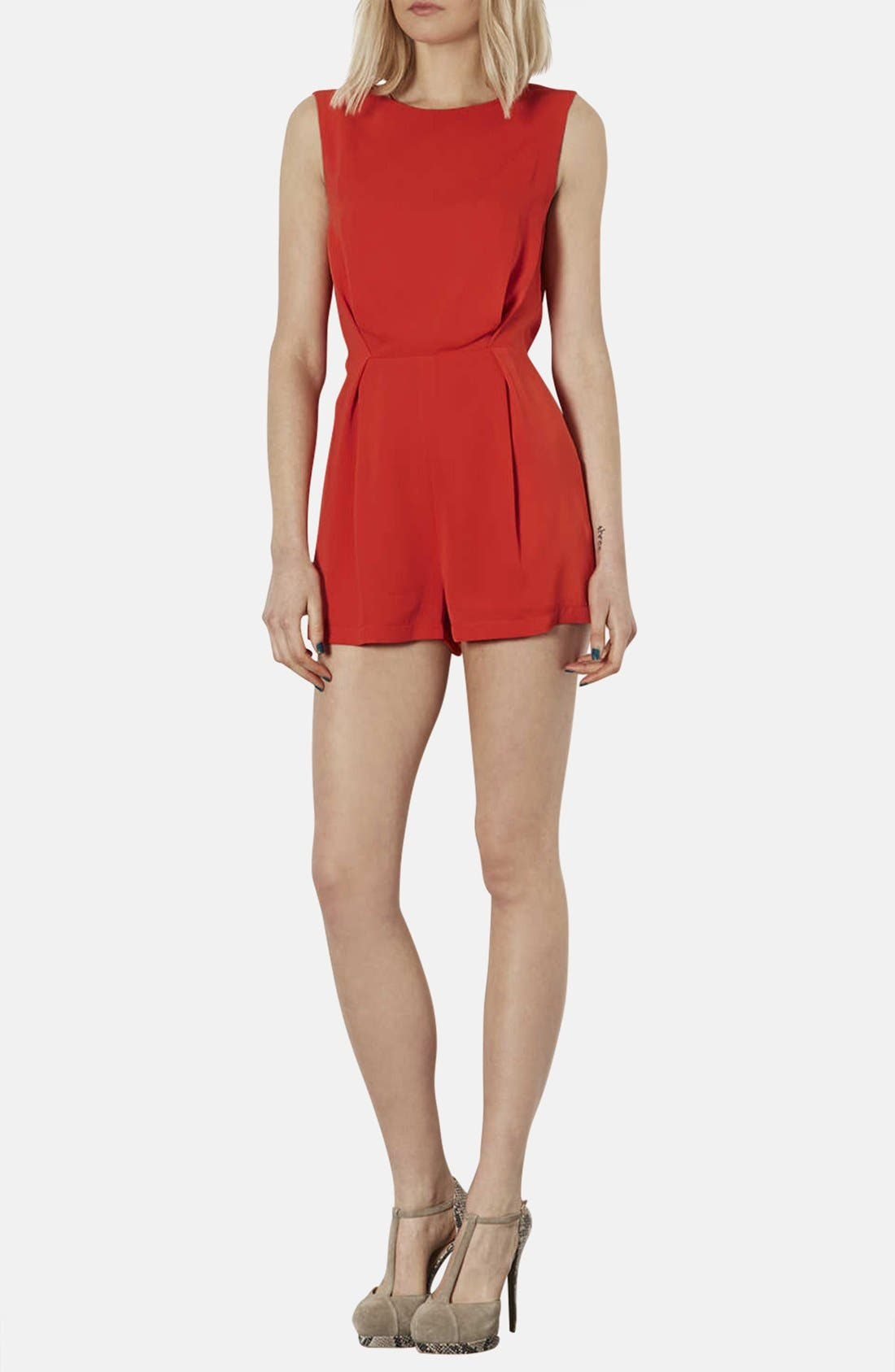 Alternate Image 1 Selected - Topshop Lace Back Romper