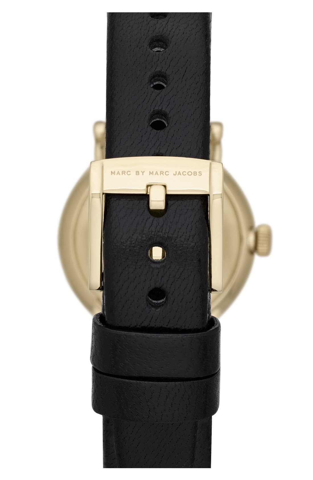 Alternate Image 2  - MARC JACOBS 'Baker' Round Leather Strap Watch, 28mm