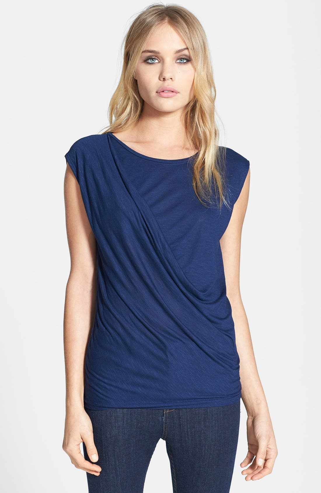 Alternate Image 1 Selected - Topshop Drape Jersey Top