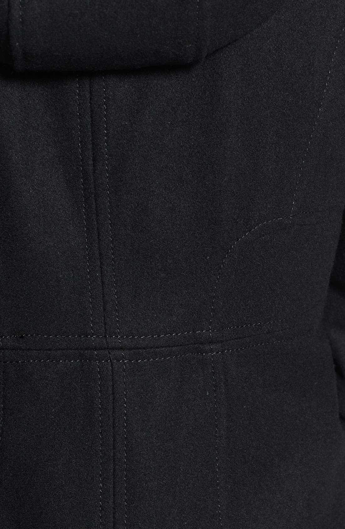 Alternate Image 3  - GUESS Hooded Toggle Front Wool Blend Coat (Petite)