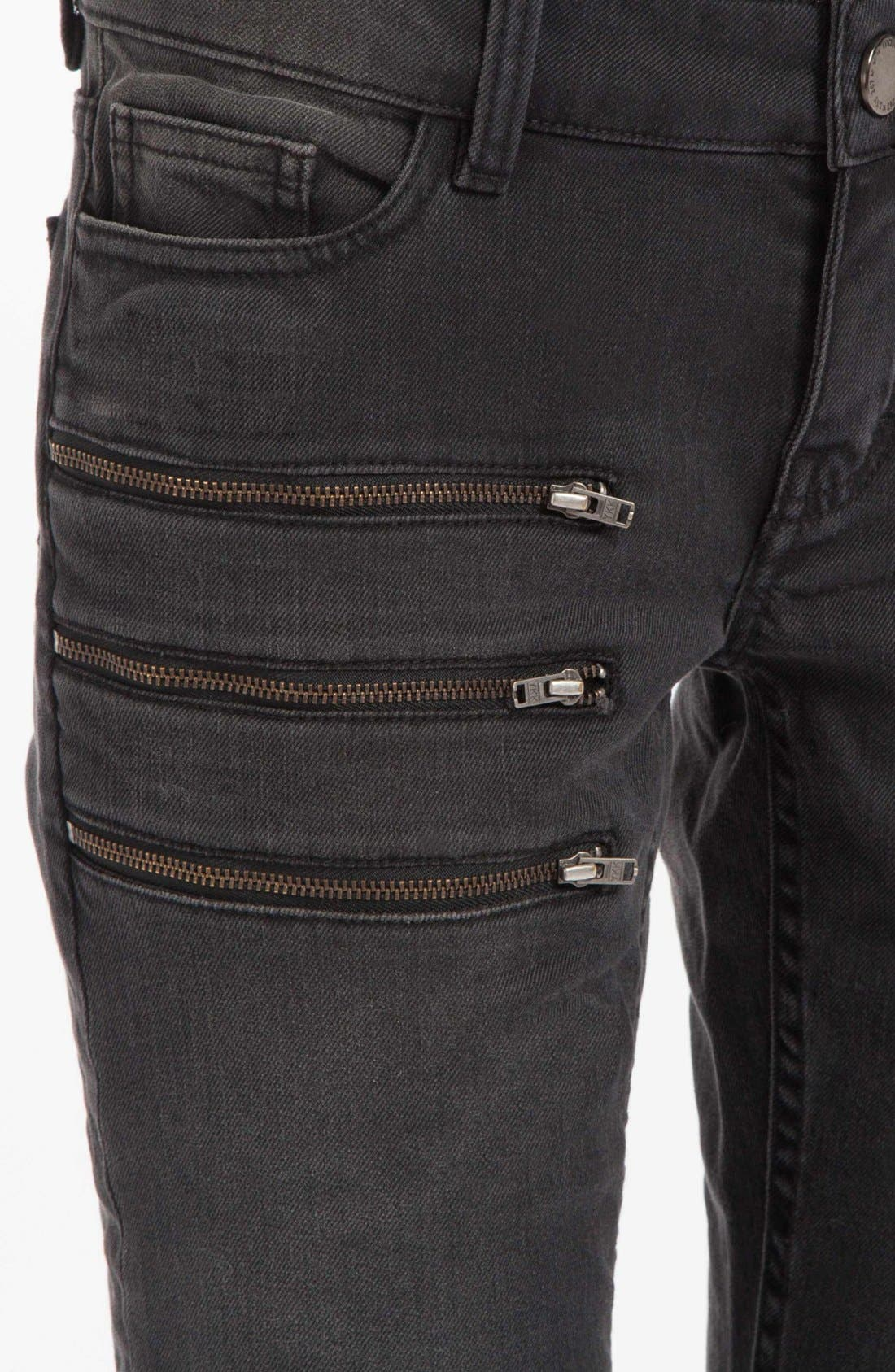 Alternate Image 3  - maje 'Dip' Colored Skinny Jeans (Noir)