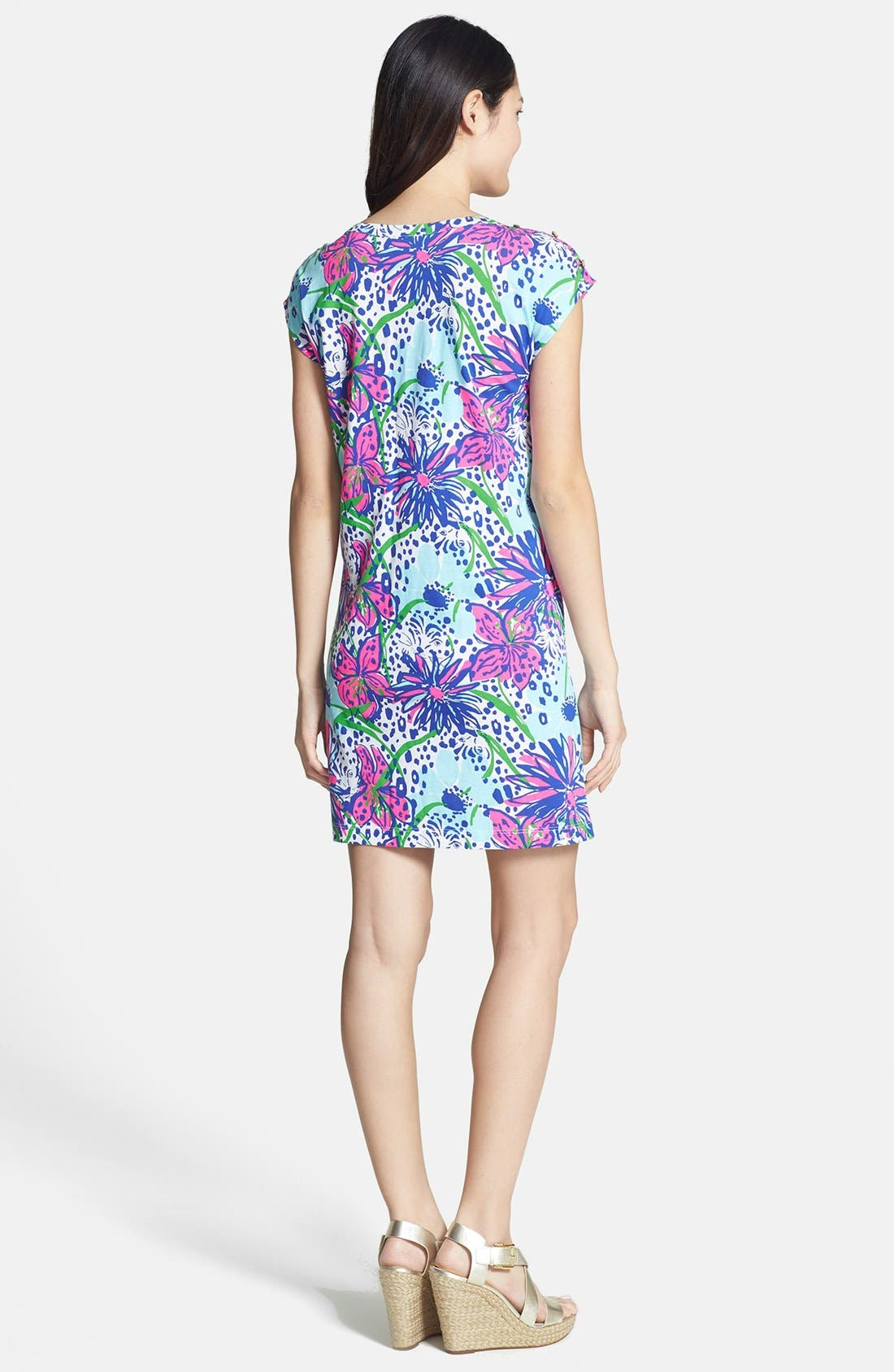Alternate Image 2  - Lilly Pulitzer® 'Robyn' Print Cotton Shift Dress
