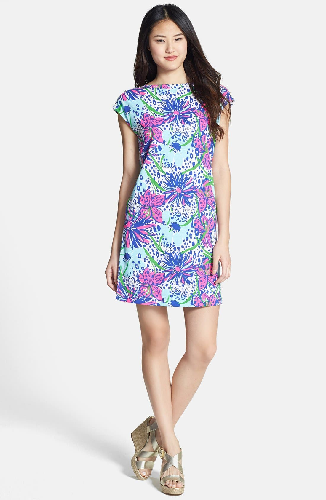 Alternate Image 1 Selected - Lilly Pulitzer® 'Robyn' Print Cotton Shift Dress
