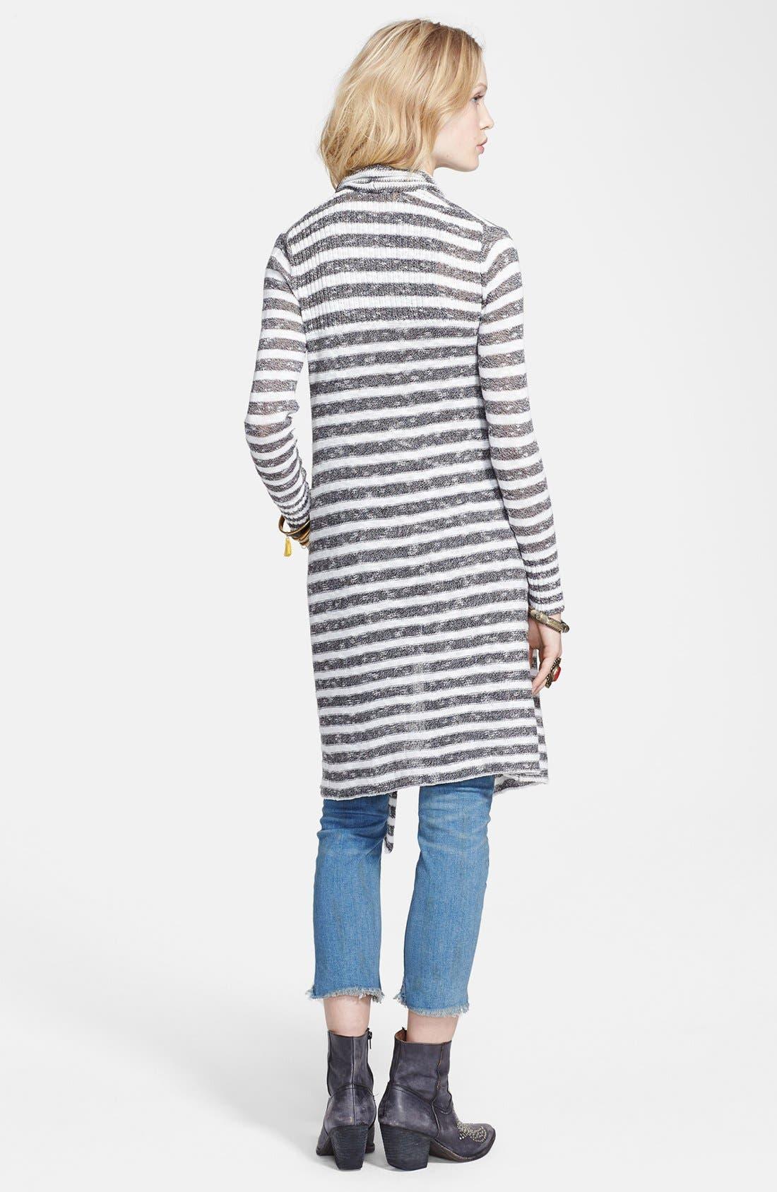 Alternate Image 2  - Free People 'Forget Me Not' Stripe Drape Front Cardigan