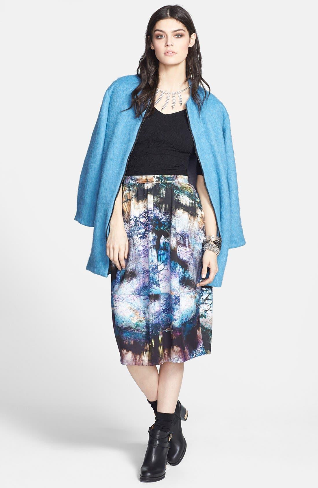 Alternate Image 6  - Topshop Photorealistic Print Midi Skirt