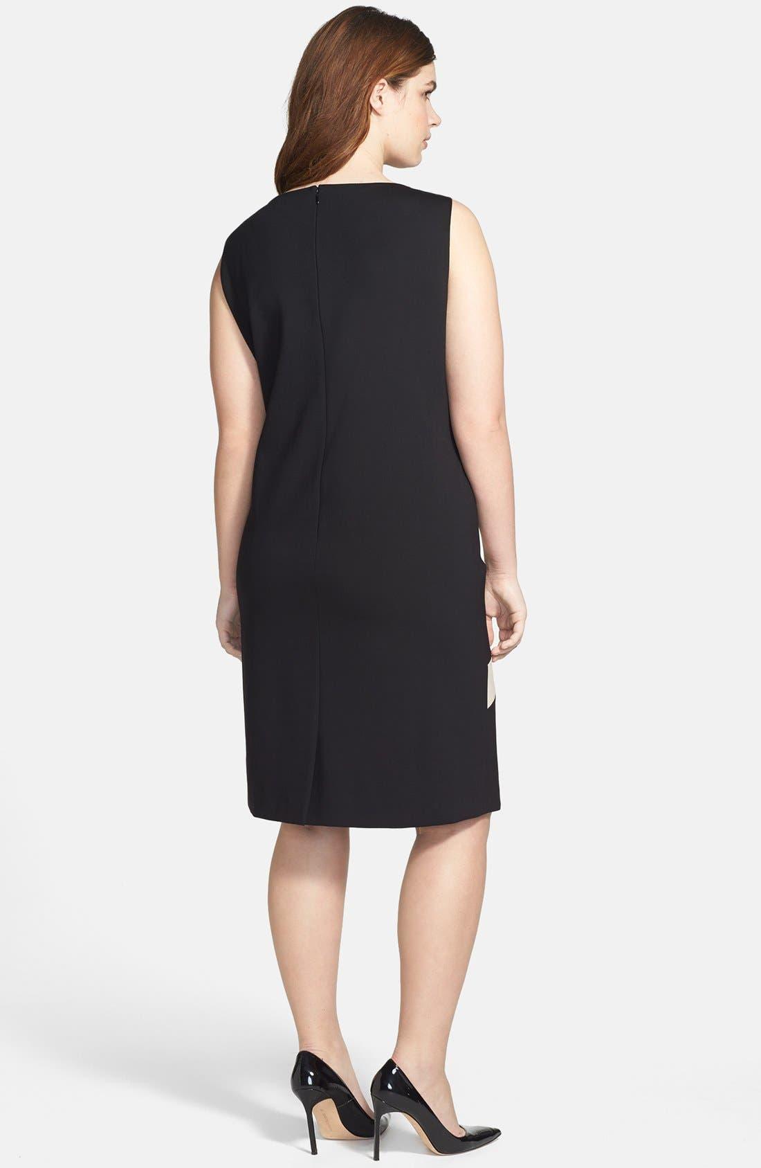 Alternate Image 2  - Tahari Starburst Ponte Sheath Dress (Plus Size)