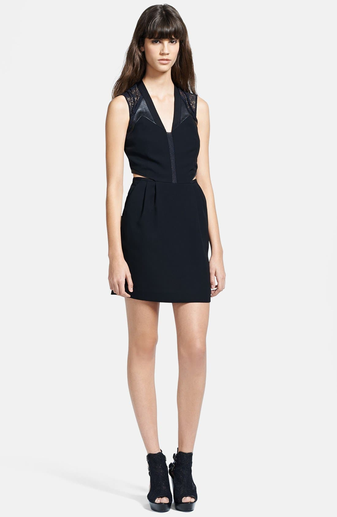 Main Image - The Kooples Cutout Crepe Dress
