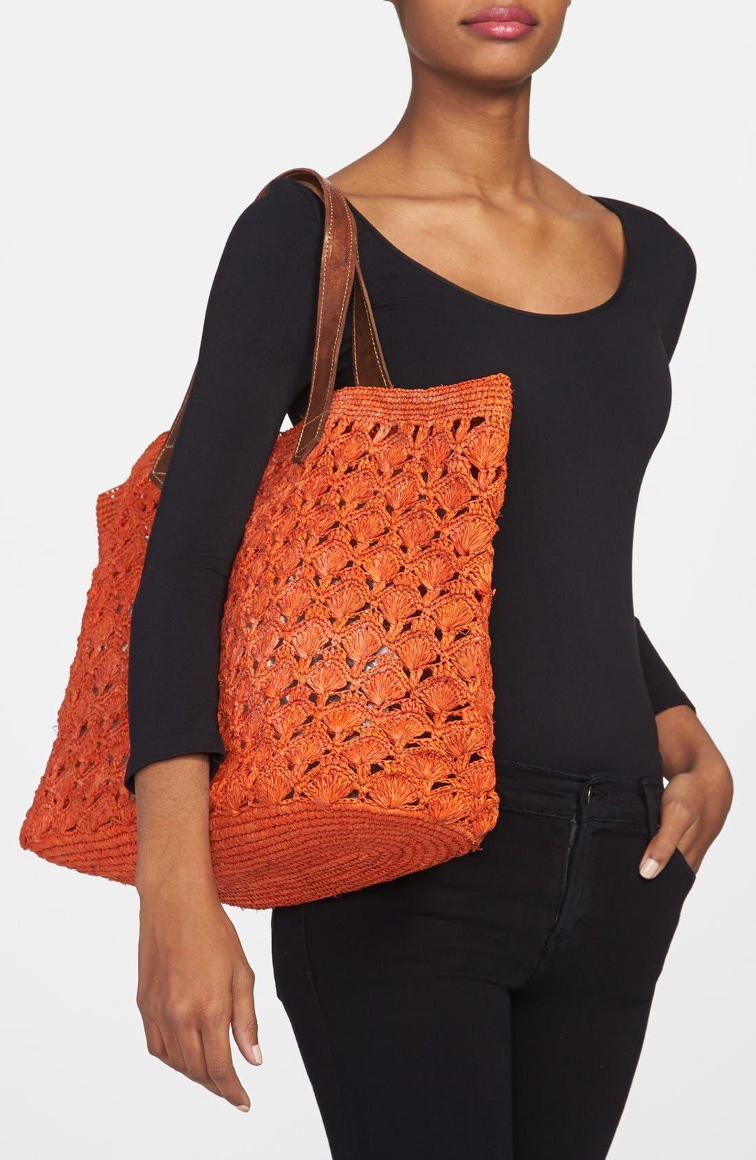 Alternate Image 2  - Mar y Sol 'Valencia' Crocheted Raffia Tote