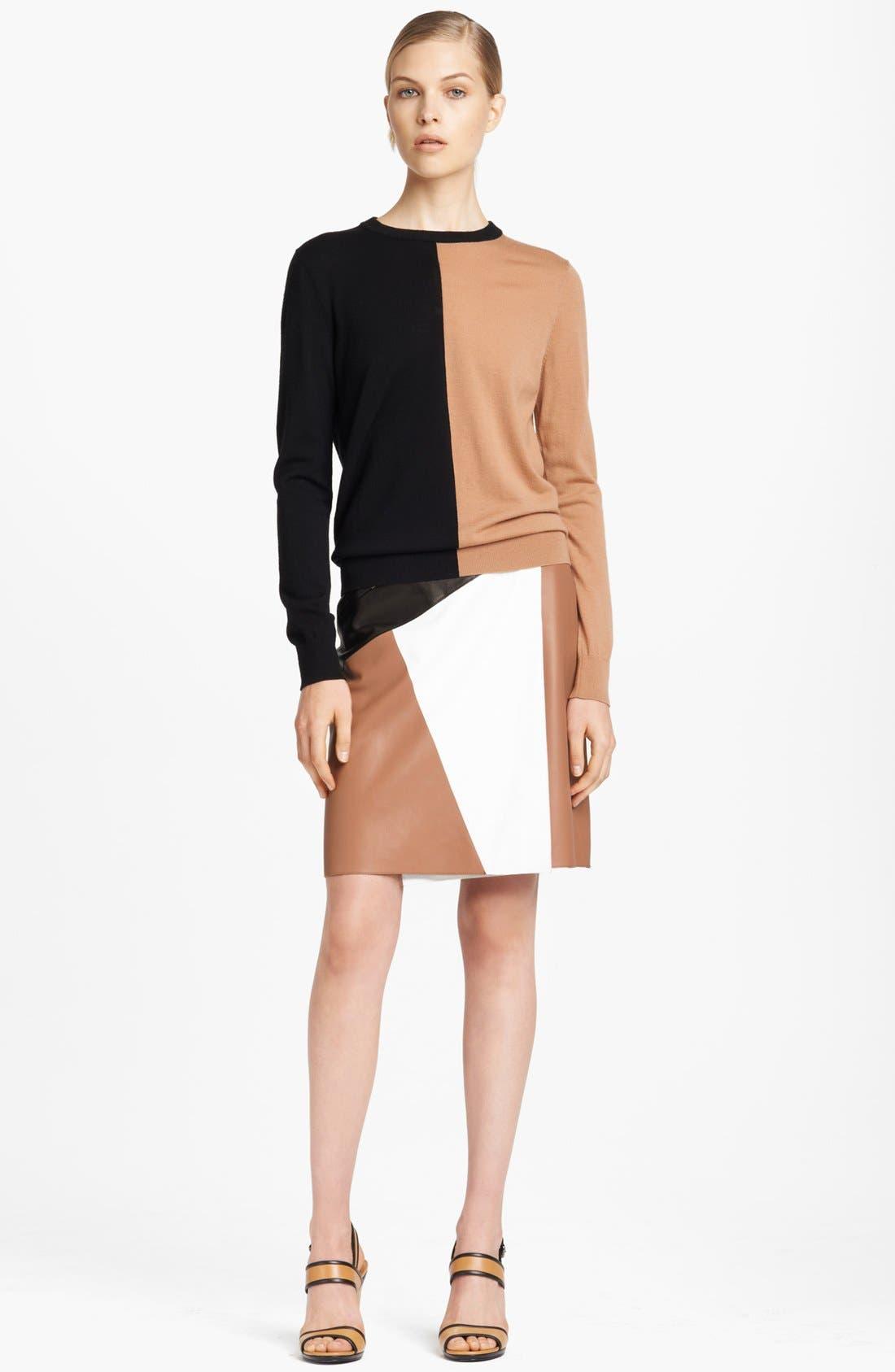 Alternate Image 4  - Michael Kors Colorblock Leather Wrap Skirt