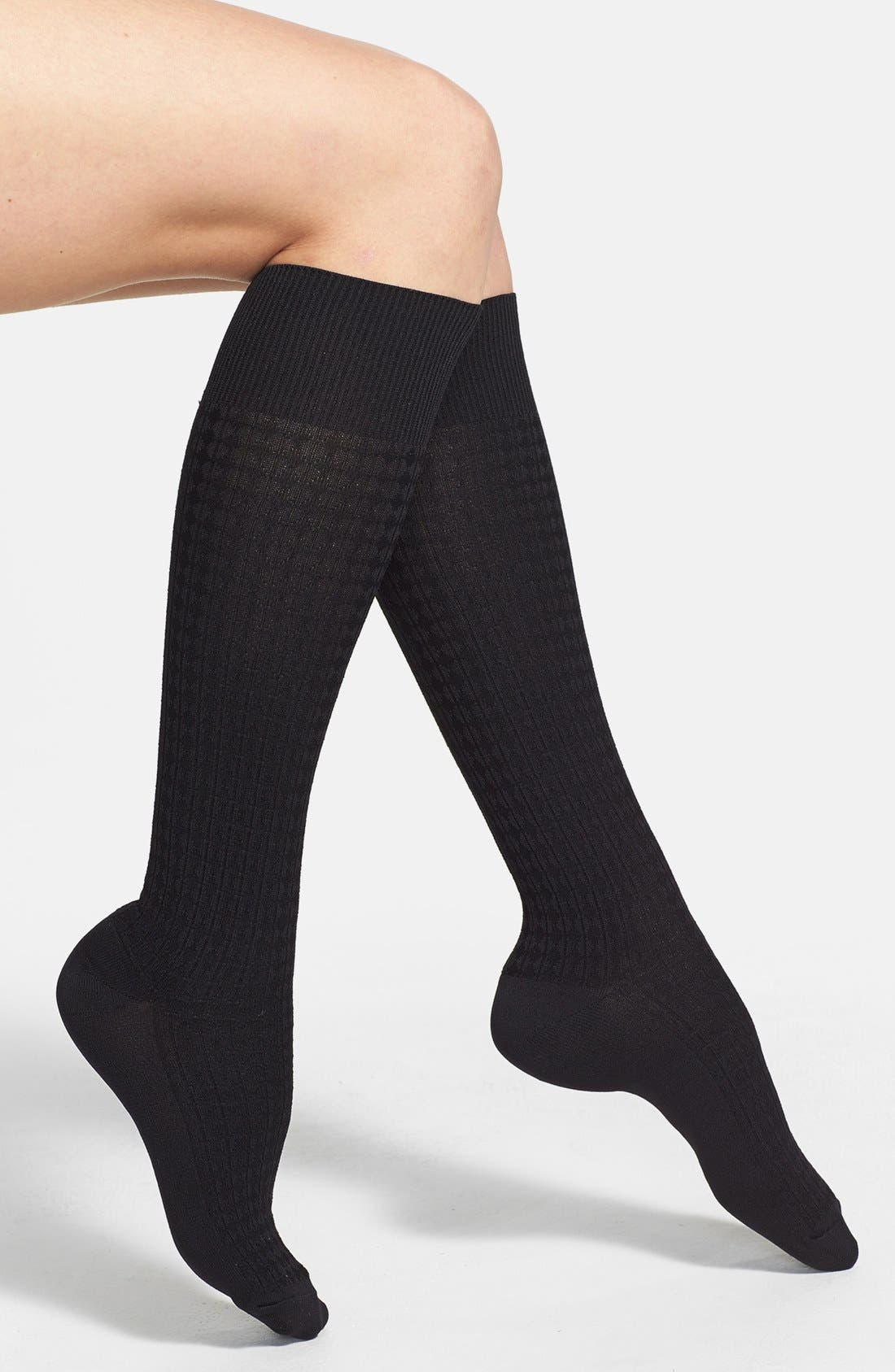 Main Image - Nordstrom Windowpane' Trouser Socks