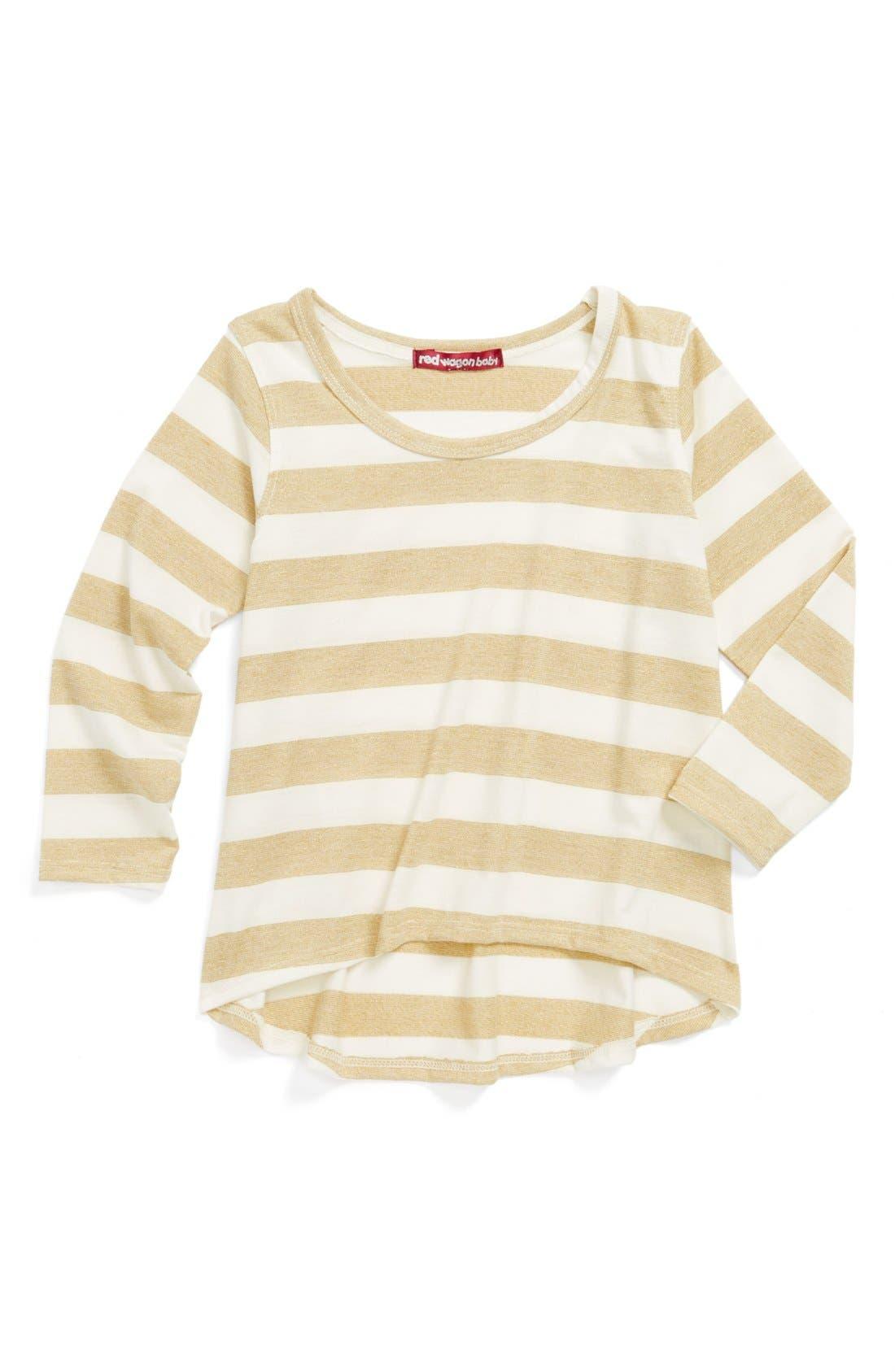 Main Image - Red Wagon Baby Gold Stripe High/Low Tunic (Toddler Girls)