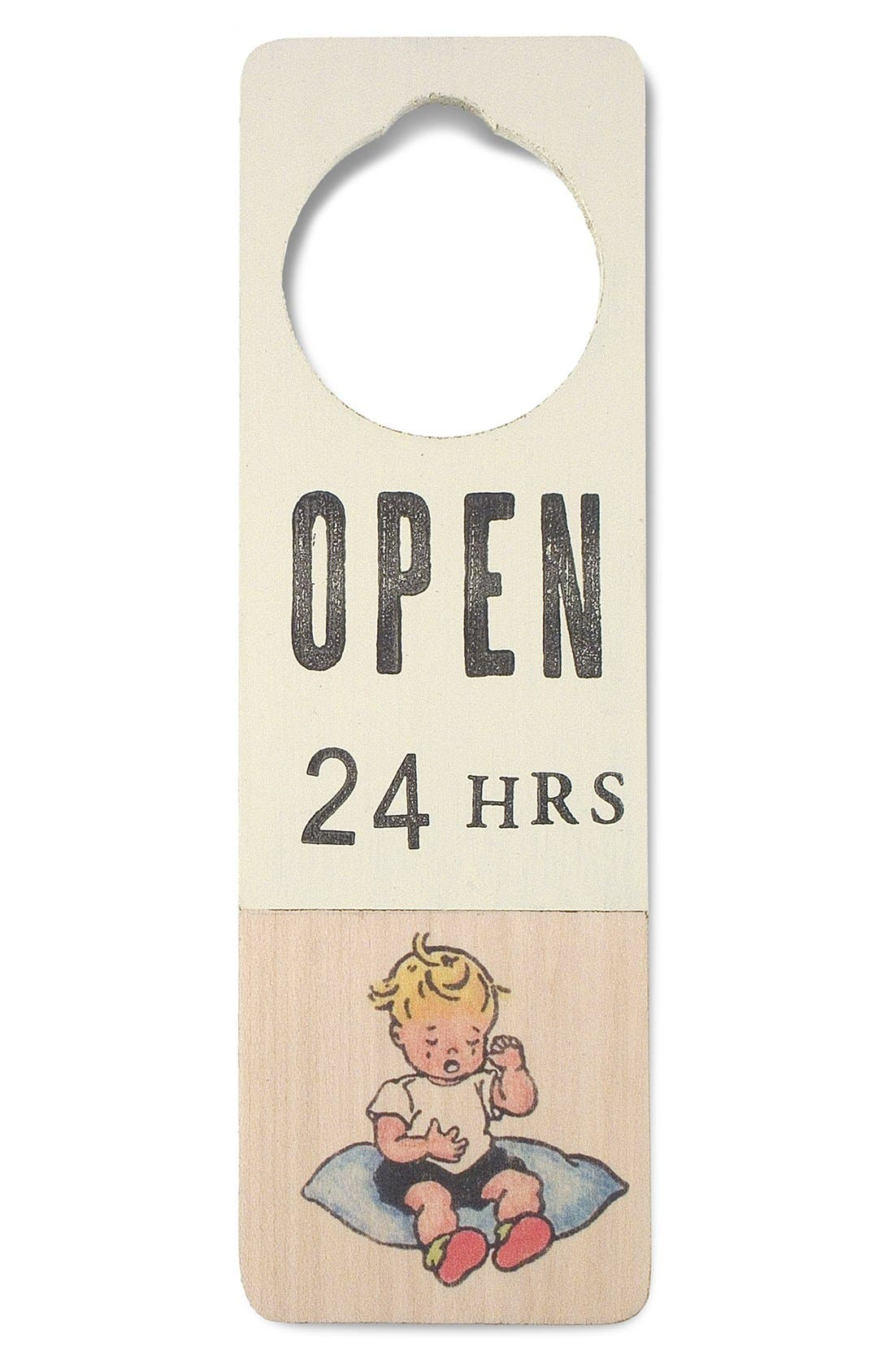 Main Image - Tree by Kerri Lee 'Open 24 Hrs' Doorknob Sign