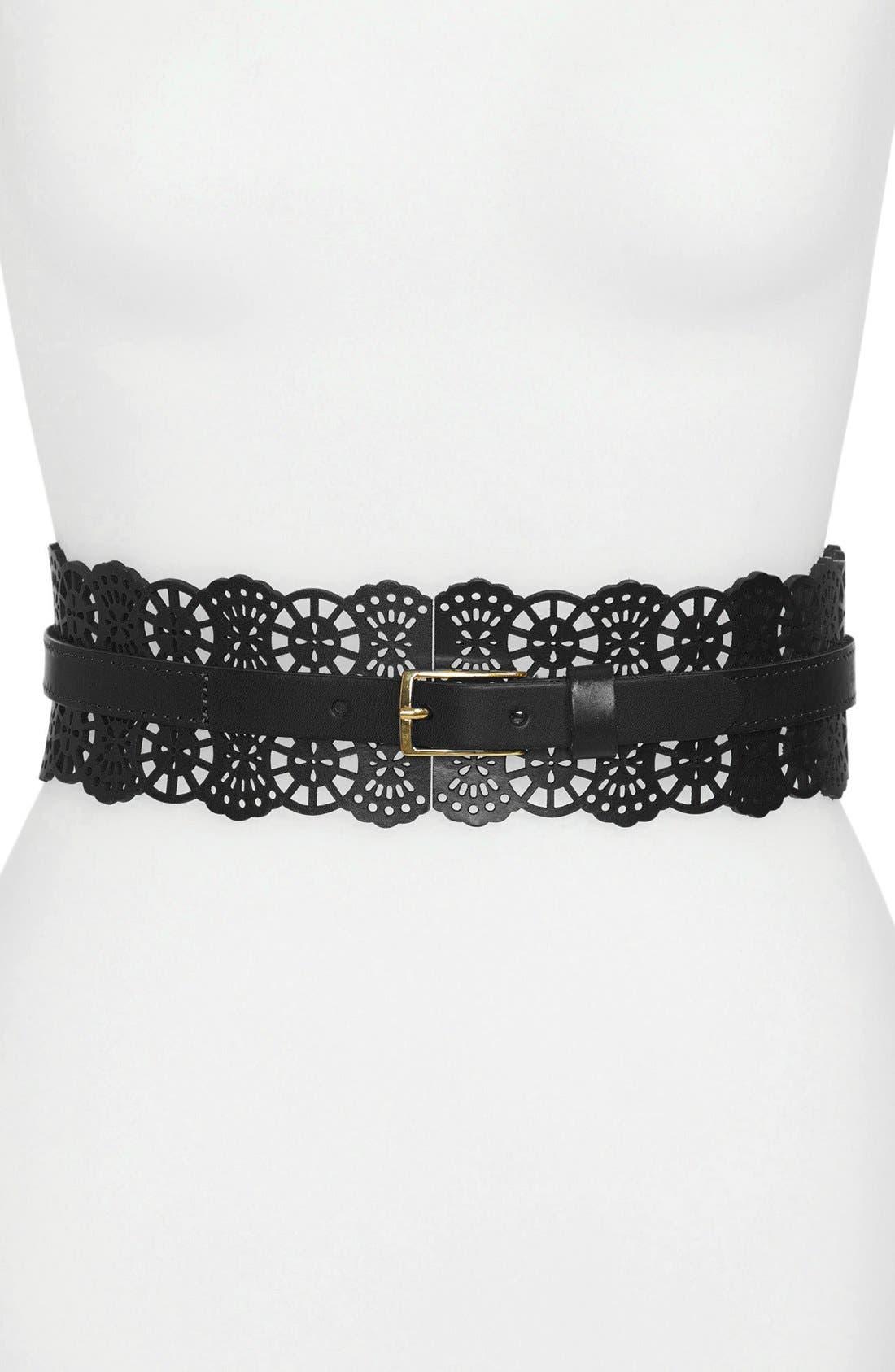 Main Image - Hinge® Perforated Leather Belt