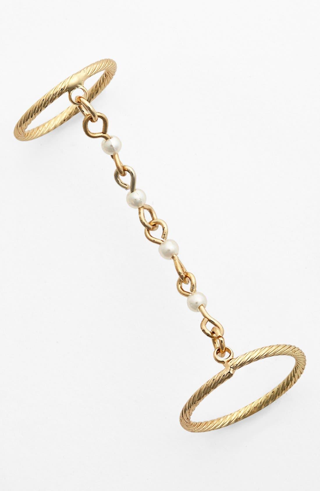 Main Image - Robert Rose Faux Pearl Link Ring
