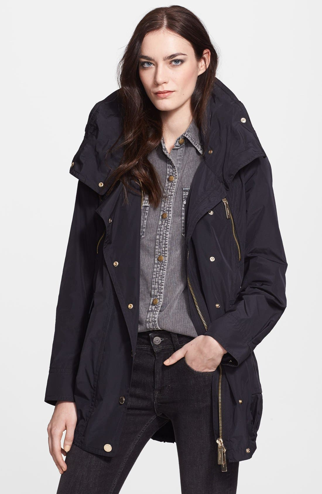 Main Image - Burberry London Belted Taffeta Jacket
