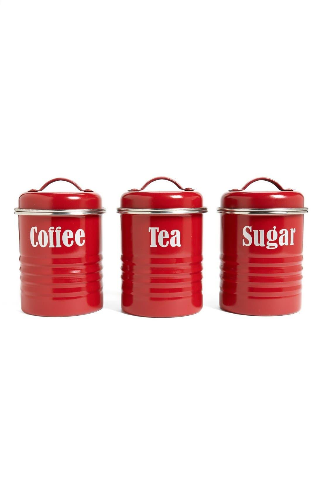 Alternate Image 1 Selected - Typhoon 'Vintage Kitchen' Enameled Tea, Coffee & Sugar Storage Canisters (Set of 3)