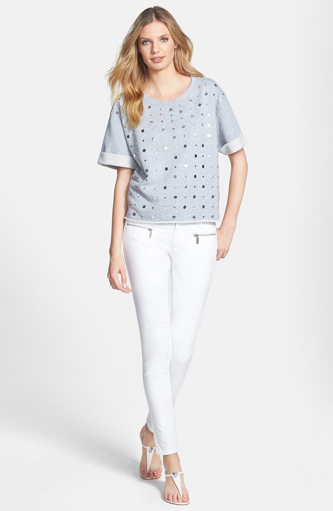 Alternate Image 4  - MICHAEL Michael Kors Studded Crewneck Sweatshirt
