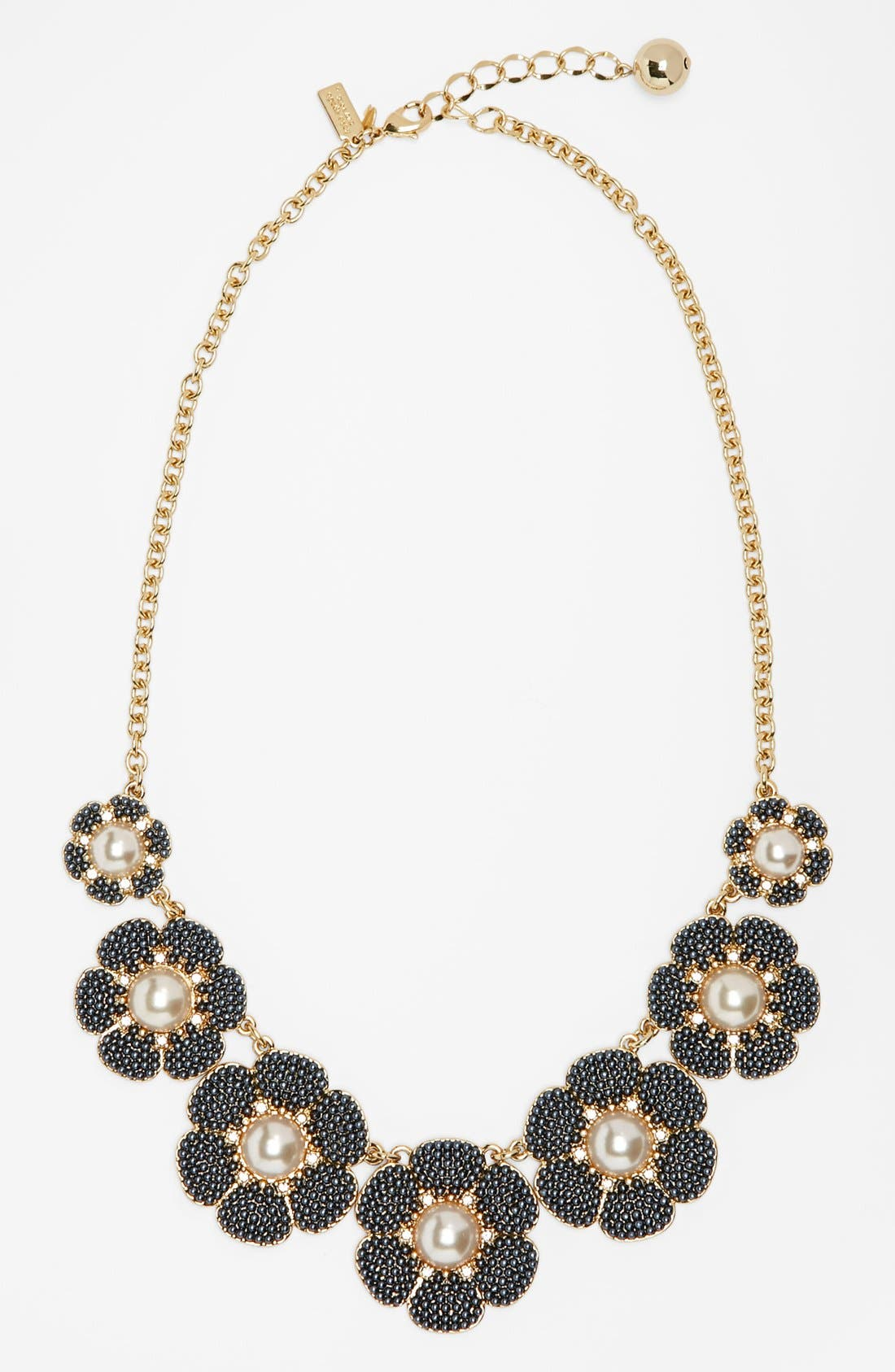 Main Image - kate spade new york 'park floral' faux pearl bib necklace