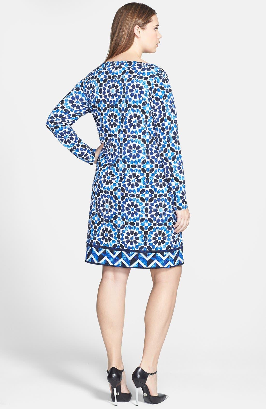 Alternate Image 2  - MICHAEL Michael Kors Print Jersey Sheath Dress (Plus Size)