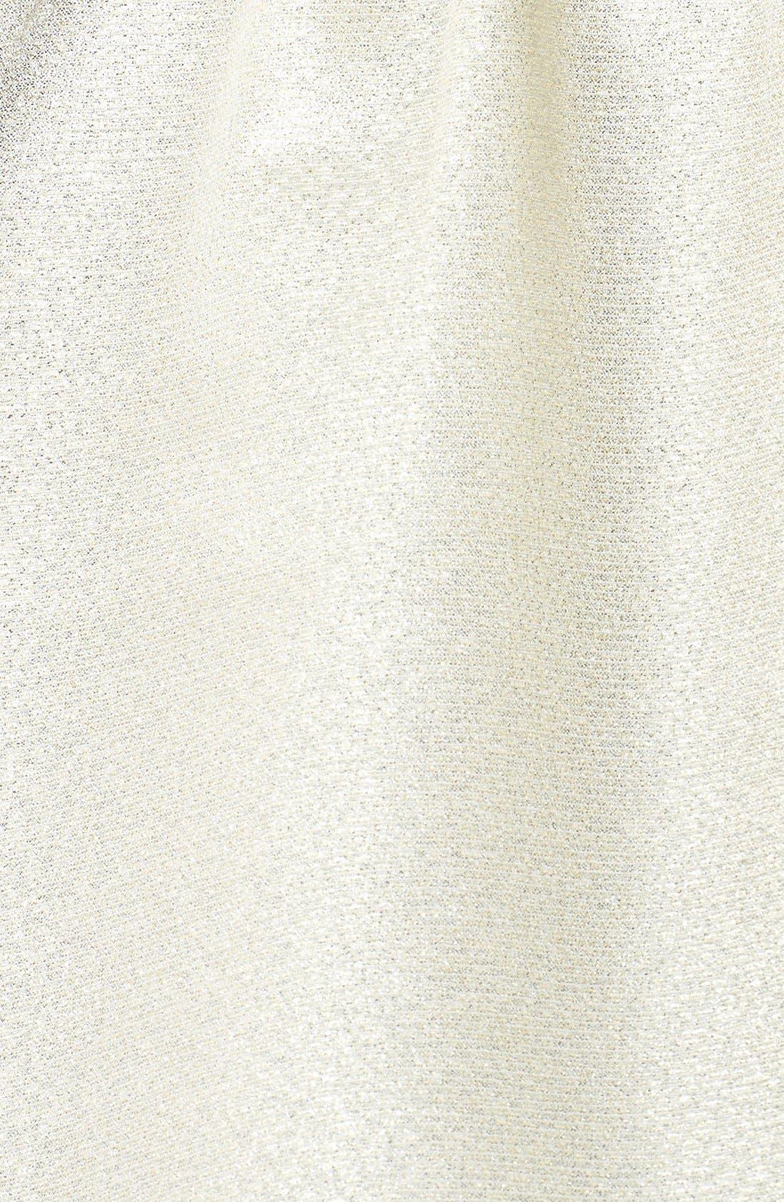 Alternate Image 4  - Aidan by Aidan Mattox Strapless Shimmer Jacquard Dress
