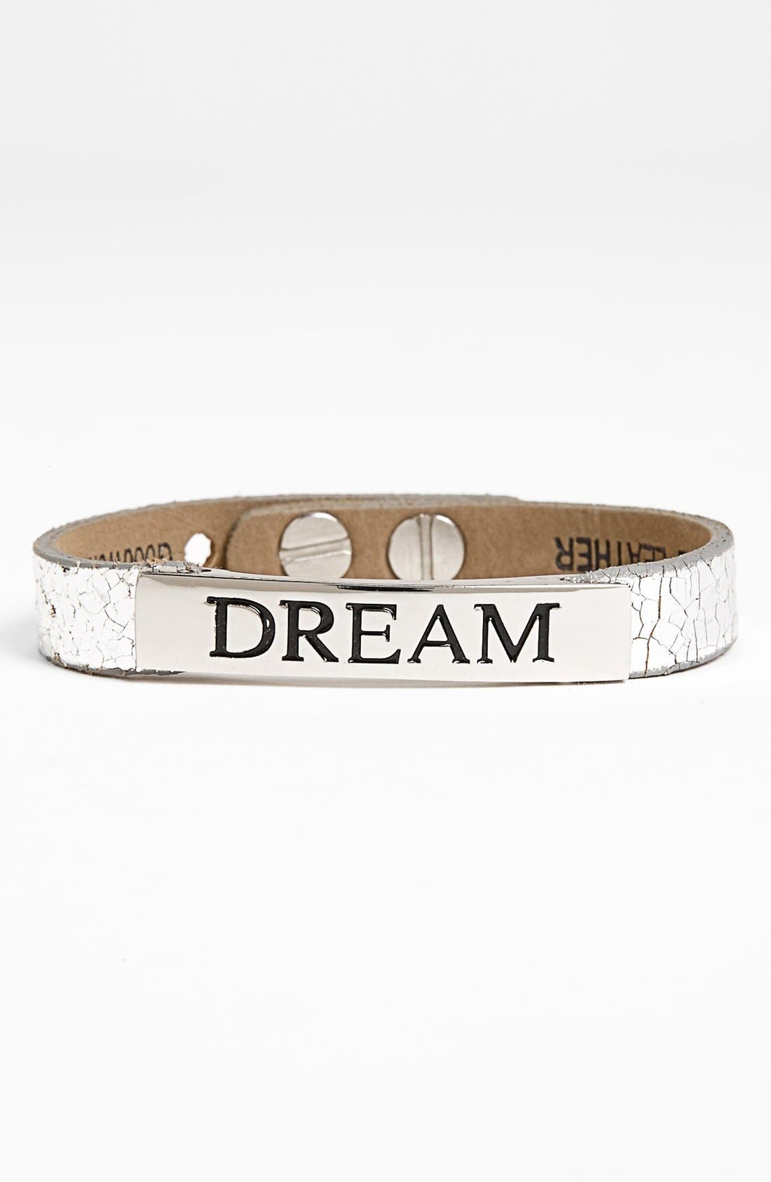 Main Image - Good Work(s) Make A Difference 'Life Inspiration' Leather Bracelet
