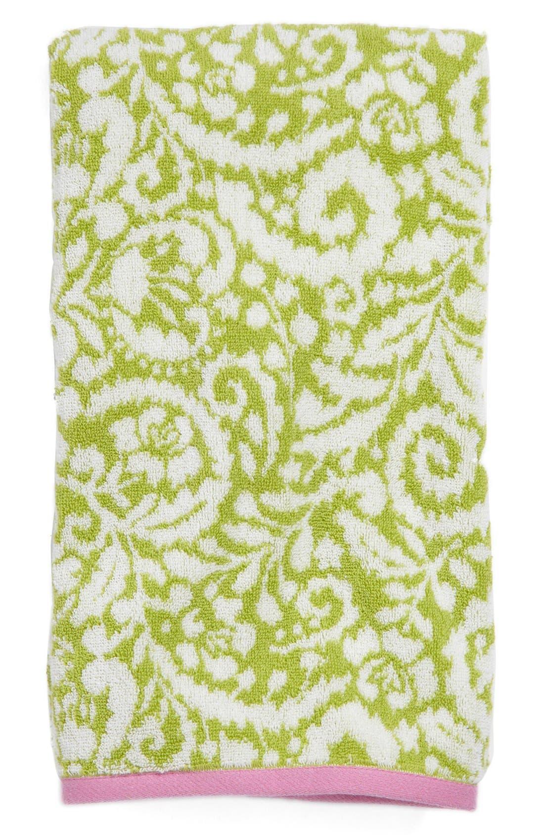'Ikat' Jacquard Bath Towel,                             Main thumbnail 1, color,                             Mlt