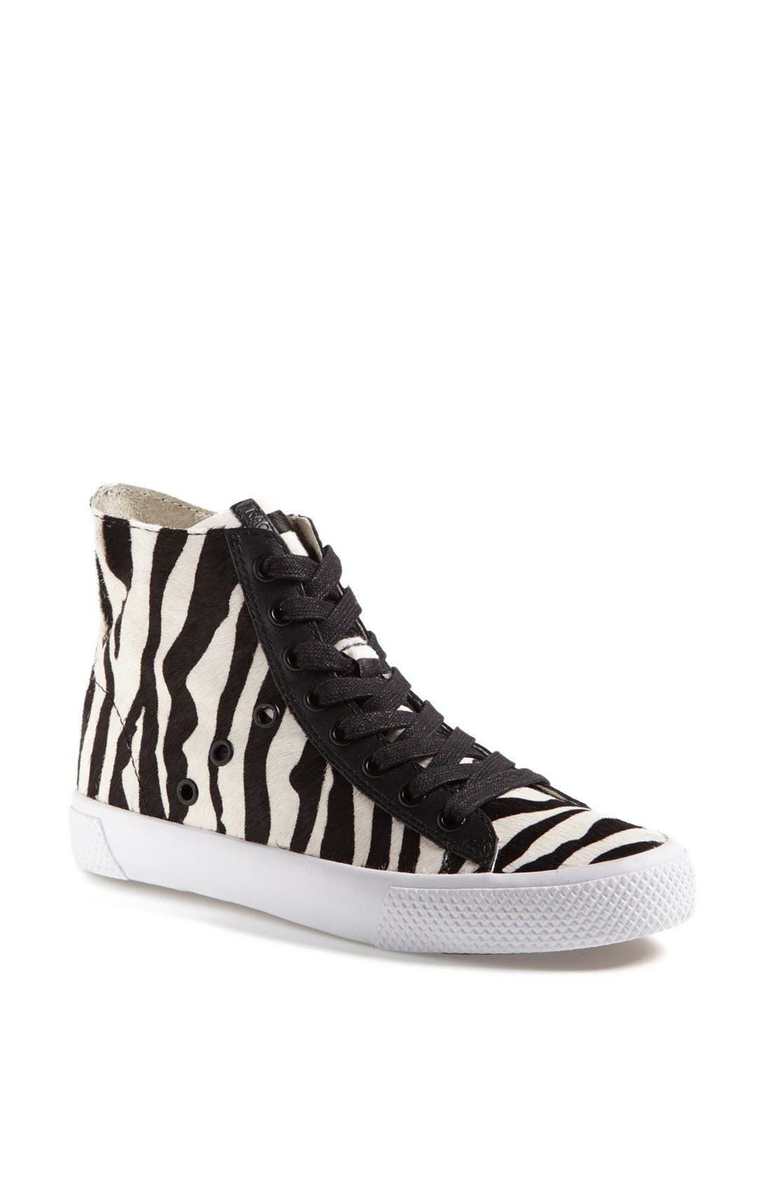 Alternate Image 1 Selected - Rachel Zoe 'Barret' Zebra Print Calf Hair Sneaker (Online Only)