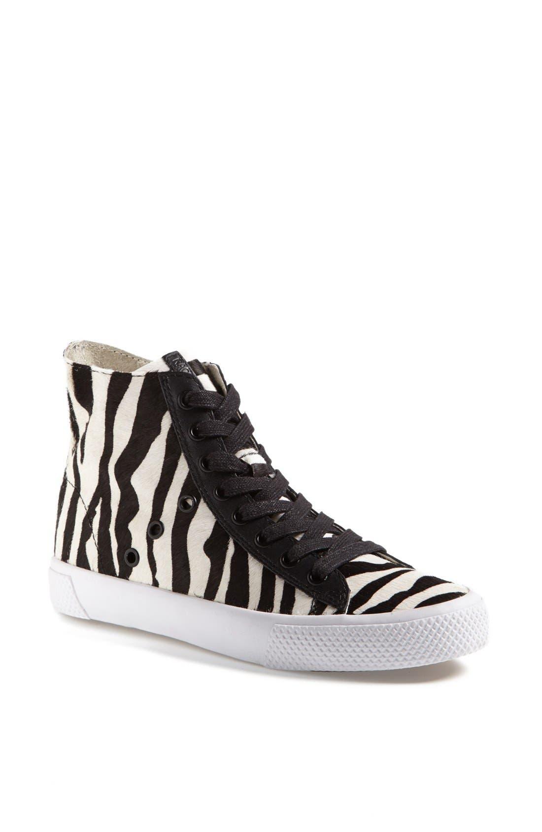 Alternate Image 1 Selected - Rachel Zoe 'Barret' Zebra Print Calf Hair Sneaker (Online Only)