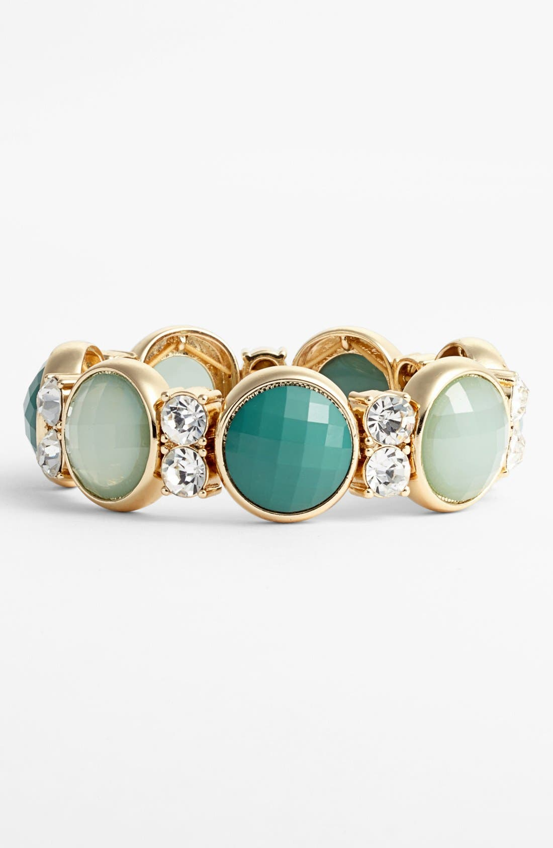 Alternate Image 1 Selected - Anne Klein Stone Stretch Bracelet
