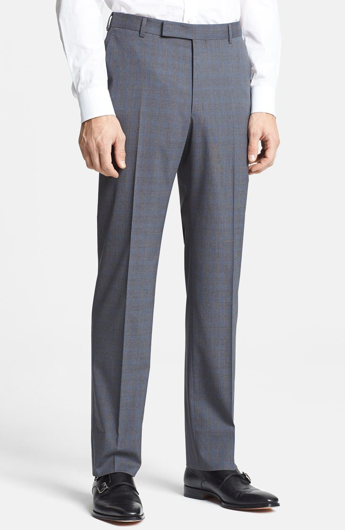 Alternate Image 4  - Z Zegna Trim Fit Grey Wool Suit