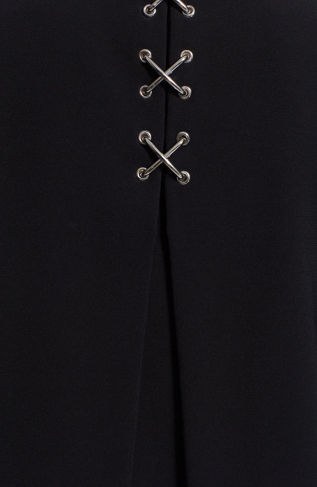 Alternate Image 4  - Alexander Wang Lace-Up Back Folded Dress