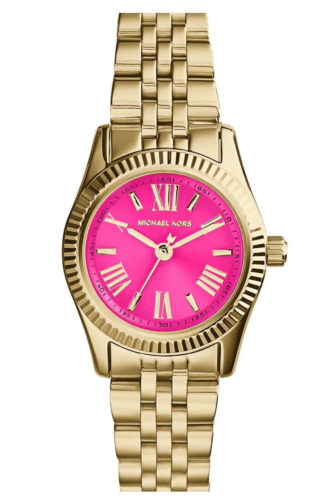 Alternate Image 1 Selected - Michael Kors 'Petite Lexington' Bracelet Watch, 26mm