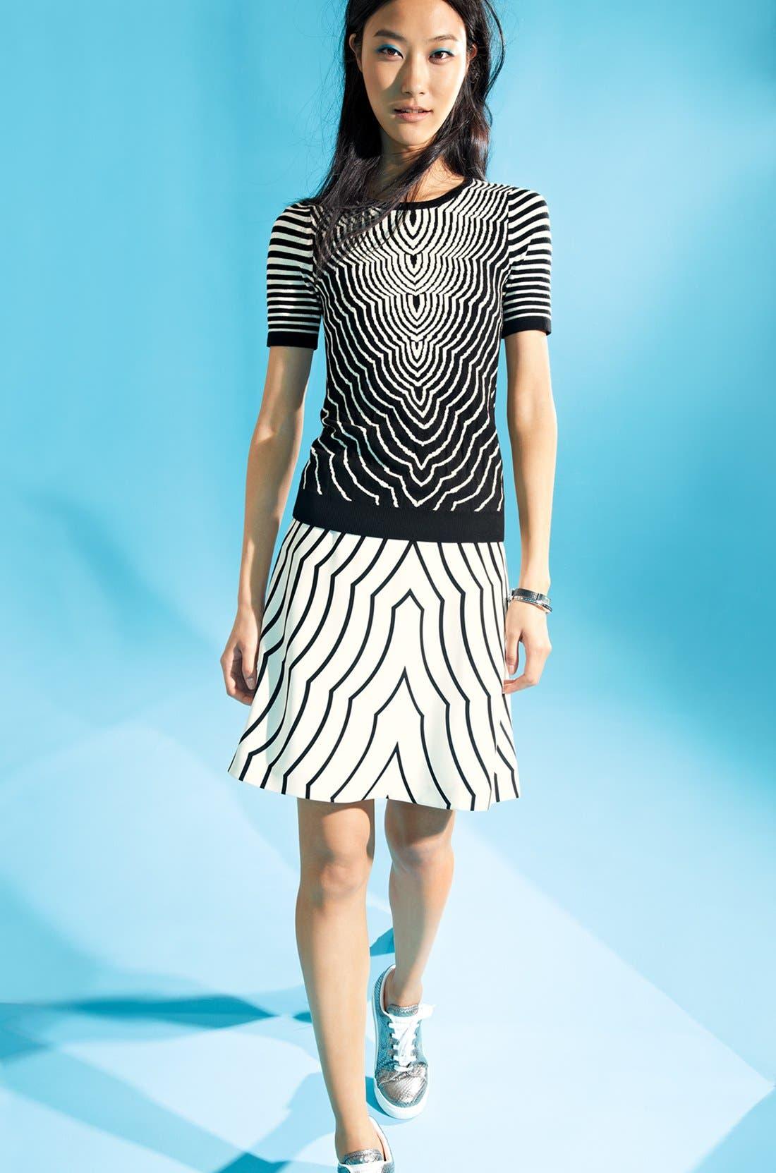 Alternate Image 4  - MARC BY MARC JACOBS 'Radio Waves' Print Skirt