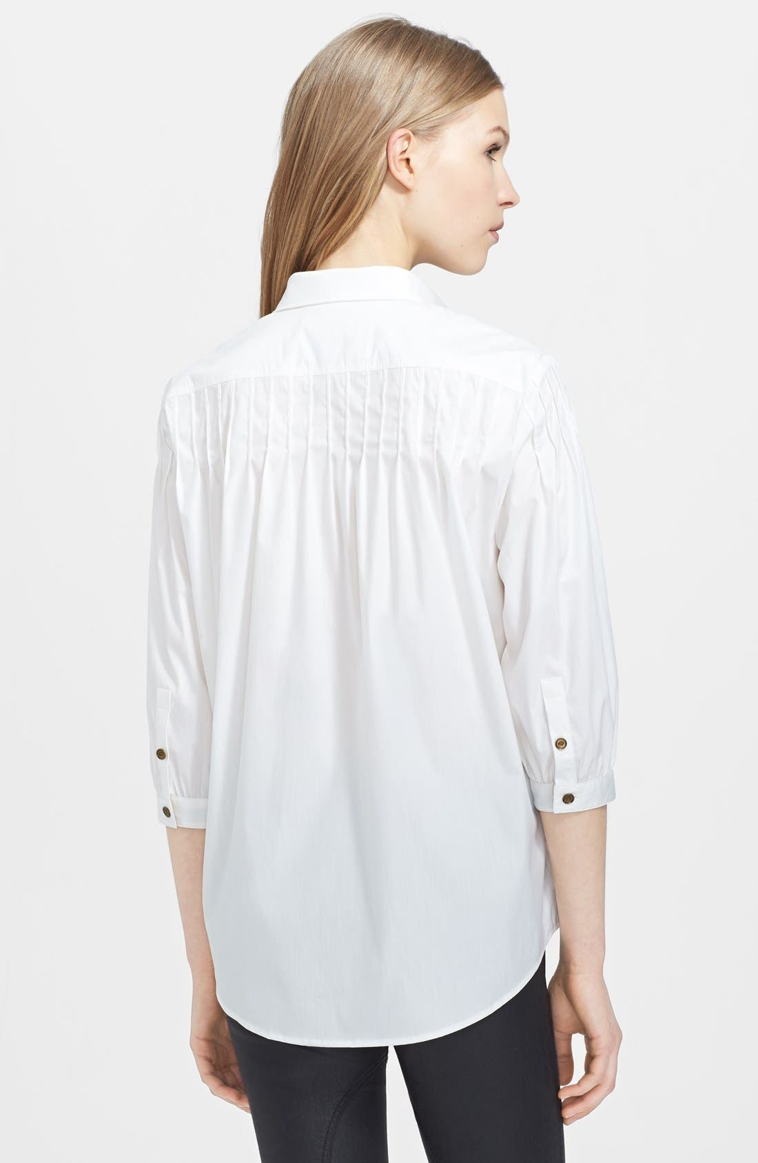 Alternate Image 2  - Burberry Brit Three Quarter Sleeve Blouse