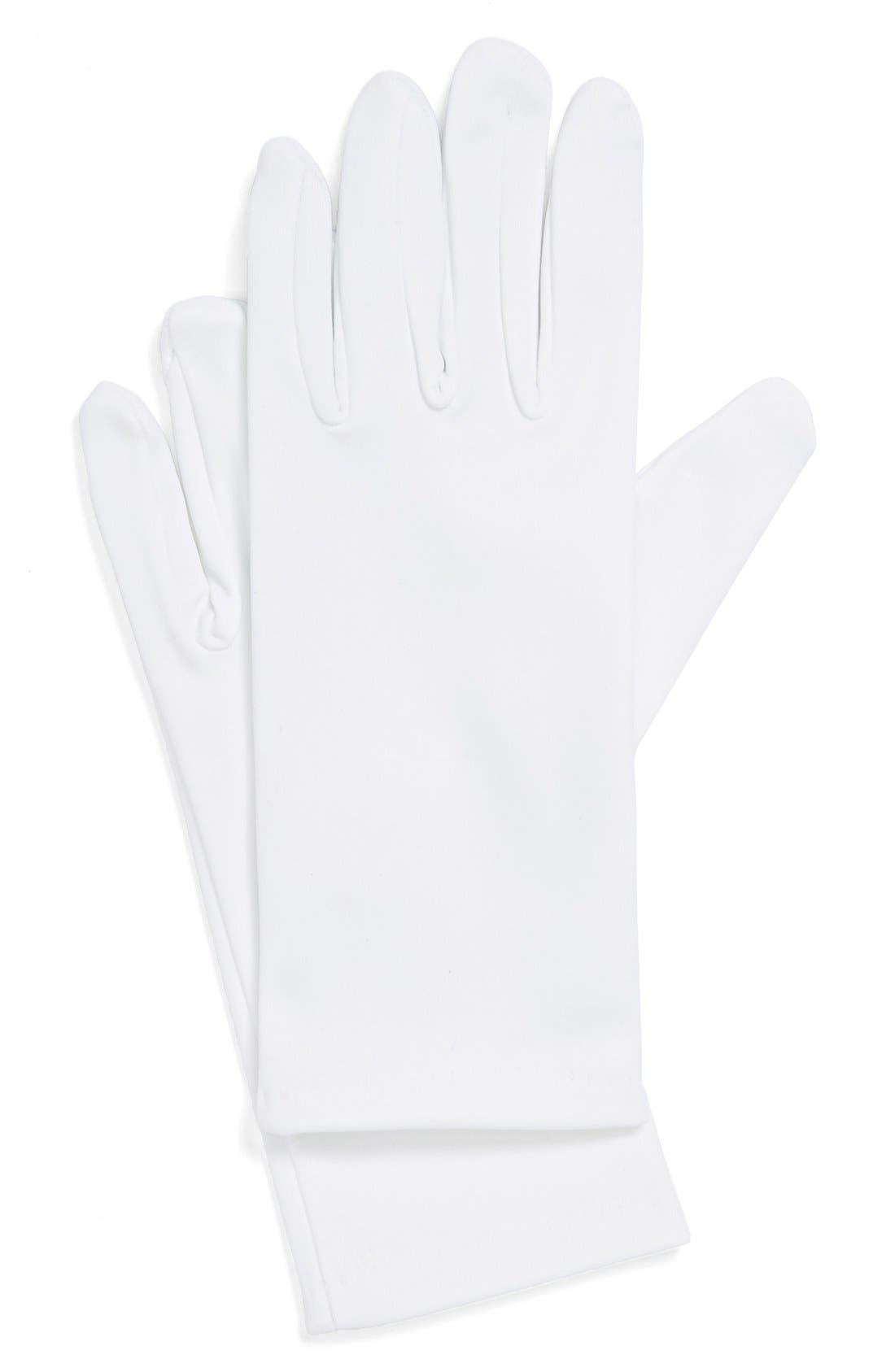 Alternate Image 1 Selected - Andrea's Beau Satin Gloves (Girls)