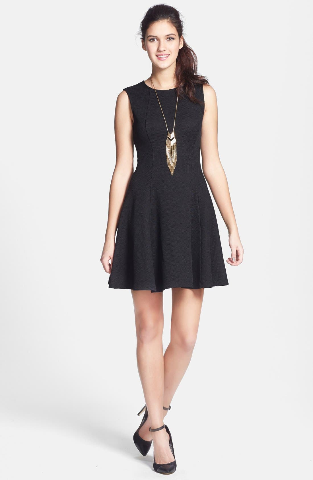 Main Image - Soprano 'Emma' Knit Skater Dress (Juniors)